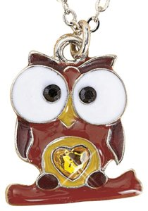New November Birthstone Owl Necklace