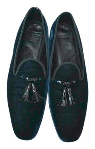 Bally Slip-ons Velvet Designer Sale Dark Green Formal