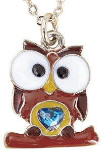 New December Birthstone Owl Necklace