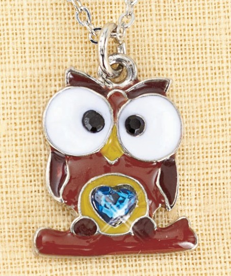 Other New December Birthstone Owl Necklace Image 1