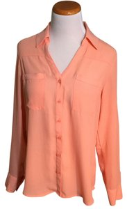 Express Button Down Shirt Coral