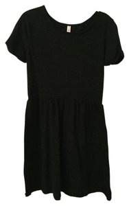 Xhilaration short dress Black Sundress Summer Splatter on Tradesy