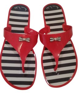 926aed622 Henri Bendel Jellies Hampton Flip Flop Colorful Red