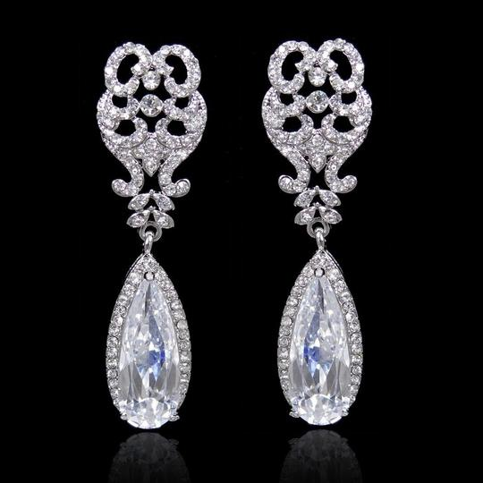 Mouse Over Image To Zoom Have One To Sell? Sell Now Details About High Quality Floral Drop Dangle Crystal Earrings