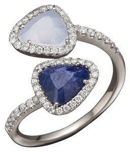 Meira T Meira T 14K White Gold Chalcedony, Blue Sapphire and Diamond Ring