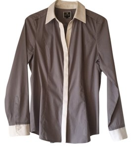 Express Button Down Shirt gray, white