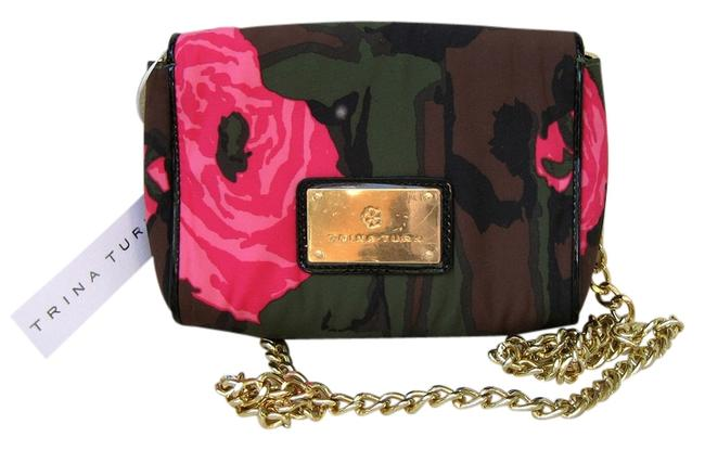 Item - Multi - Army Green Brown Black and Pink. Cloth Shoulder Bag
