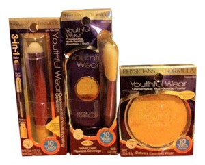 Phycisians Formula Physicians Formula 3 Peice Lot Step 1-Concelear/Cover-upStep 2-Foundation/Brush-Step 3 Face Powder-COLOR-LIGHT/IVORY- Retail for All $44.97