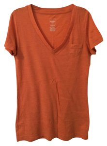 fad7d05115b Mossimo Supply Co. Boyfriend T-shirt V-neck Cotton Casual T Shirt Orange