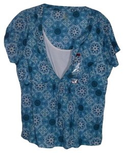 Northcrest Large Peasant Top Blue