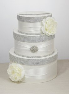Card Box / Wedding Box / Wedding Money Box - 3 Tier - Ivory