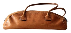 Adrienne Vittadini Handbag Baguette Satchel in brown