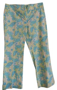 Lilly Pulitzer Pants Capris Multi (aqua blue, green, white)