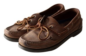 Sperry Boat Leather 2 Eye Boat Brown Flats