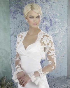 Forever Yours International Ivory English Net and Lace A48211 Jacket Vintage Wedding Dress Size 8 (M)