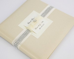 Wedding Guest Book - Personalized - Ecru