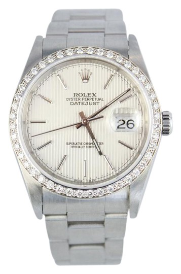 Preload https://item3.tradesy.com/images/rolex-stainless-steel-16200-diamond-datejust-watch-1323537-0-3.jpg?width=440&height=440