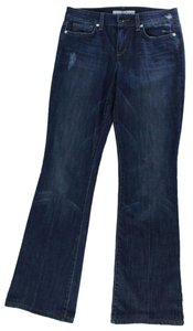 JOE'S Jeans Halle Mid Rise Distressed Dark Denim Boot Cut Jeans-Dark Rinse
