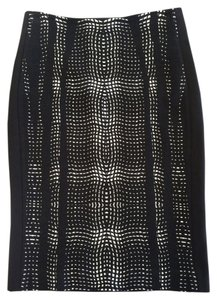 Diane von Furstenberg Pencil & Skirt Black White