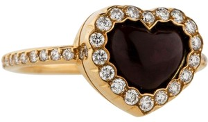 Dior Dior 18K Yellow Gold Diamond Heart Ring
