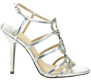Ivanka Trump Strappy Wedding Formal Silver Sandals