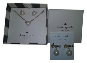 Kate Spade SET-Boxed Necklace & earrings PLUS another pair of Bow earrings