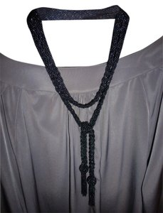 unknown Gunmetal Gray Black Bead Necklace