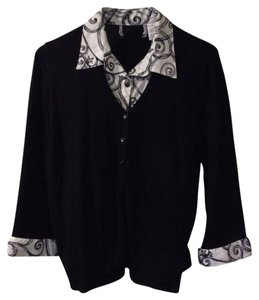 Button Down Shirt Black/white