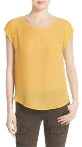 Joie Silk Top Yellow