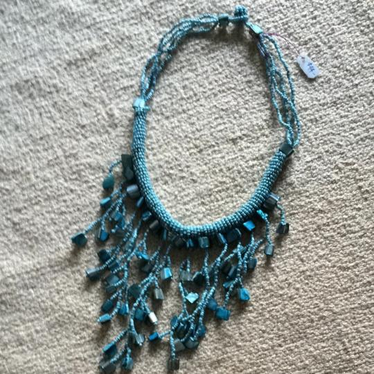 Handmade Hand Strung Stone And Bead Necklace