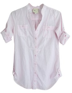 Pink Rose Fitted Button Down Shirt pink