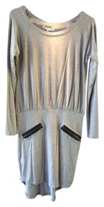 House of Harlow 1960 short dress Grey Leather Accent Zipper Accent Longsleeve on Tradesy