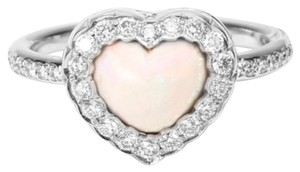 Dior Dior 18K White Gold Diamond Heart Ring