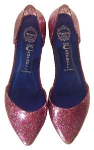 Campel Spar Sparkle Comfortable Slip-on Pointed Toe Red, sparkling Flats