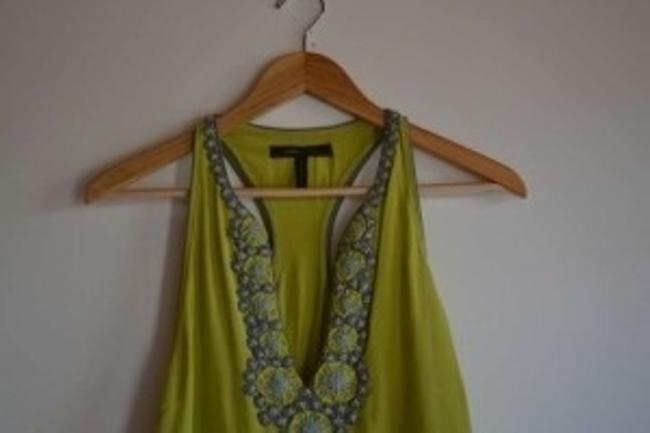 BCBGMAXAZRIA short dress Chartreuse / Lime Green on Tradesy