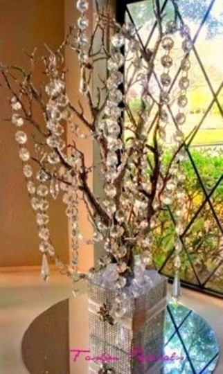 Silver Manzanita Tree. Wishing Tree Bling Manzanita Tree Reception Decoration