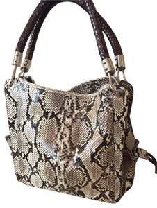 Michael Kors Leather Geniune Tote in Grey Python