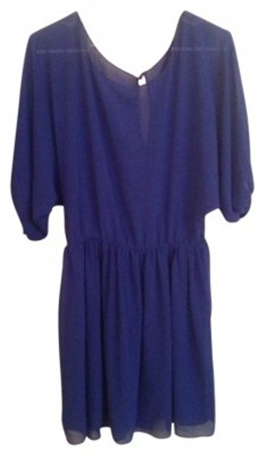 Preload https://item5.tradesy.com/images/forever-21-blue-tunic-size-10-m-13244-0-0.jpg?width=400&height=650