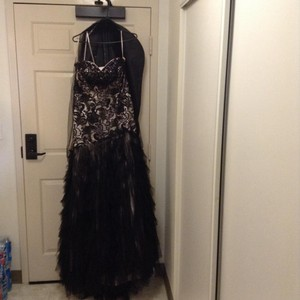 Black Strapless Gown Dress