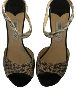 Jimmy Choo Black brown grey python Sandals