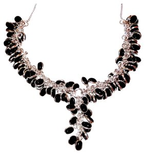 Other Genuine Black Onyx Dangling Cabochan Necklace