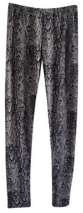 BCBGMAXAZRIA Black/Gray/White Leggings