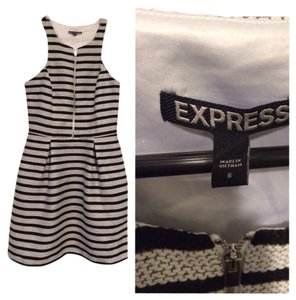 Express short dress Black and white on Tradesy
