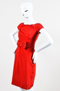 Valentino Frayed Box Bow Dress