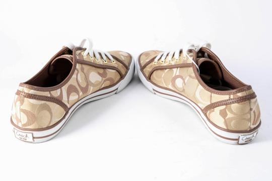 Coach Womens Brads Khaki/Chestnut Sneakers Brown Athletic Image 4