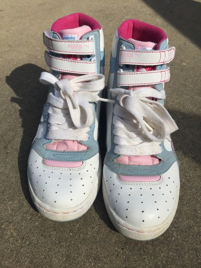Puma White/pink/babyblue Athletic