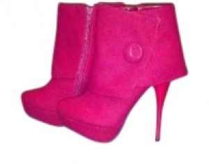 Diva Lounge Fire Engine Red Boots