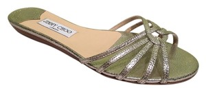 Jimmy Choo Leather Silver Sandals