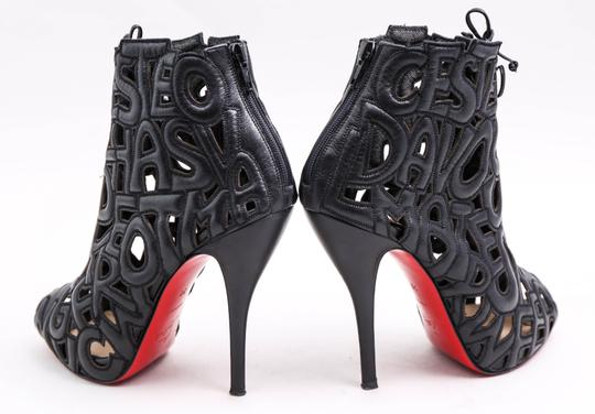 Christian Louboutin Let Me Tell You 120 Ankle Black Boots