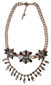 Black Gold Flower Statement Fashion Chunky Necklace